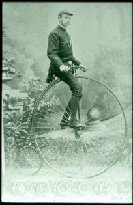 Friedrich Ferdinand Haage auf dem Hochrad